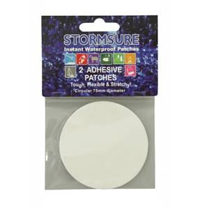 Stormsure TUFF Tape Self Adhesive Repair Patches Circular 2-Pack 75mm