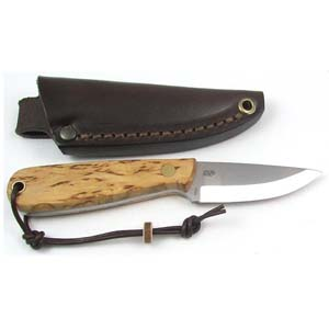 Brisa Necker 70 Knife Curly Birch 9800