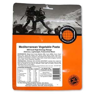 Expedition Foods Mediterranean Vegetable Pasta 800 Kcal