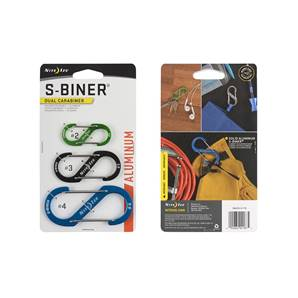 Nite ize S-Biner Aluminium 3 pack - Coloured