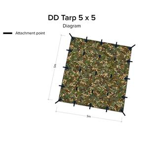 DD Hammocks Tarp 5 x 5 - MC