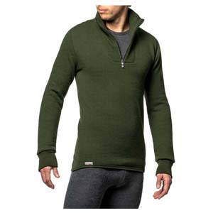 Woolpower Zip Turtleneck 400 Green XXXL