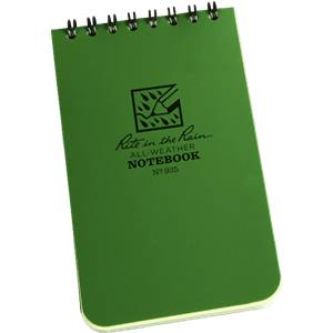 Rite in the Rain Pocket Notebook Green 935