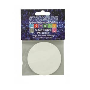 Stormsure TUFF Tape Self Adhesive Repair Patches Circular 5-Pack 75mm