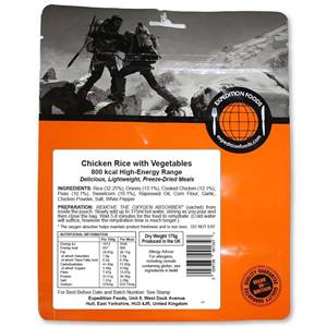 Expedition Foods Chicken Rice with Vegetables 800 Kcal