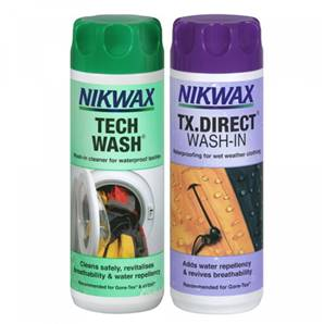 Nikwax TX Direct Wash In / Tech Wash 300ml Twin Pack