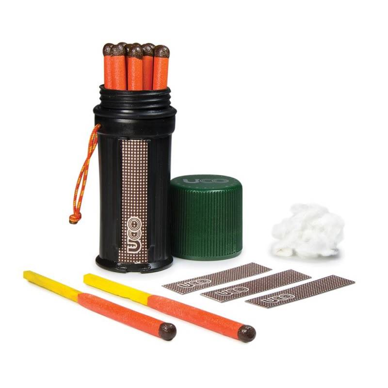 3 strikers 25 Matches UCO Stormproof Waterproof Match Kit w// Green Case