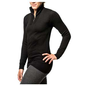 Woolpower Zip Turtleneck 400 Black XXL