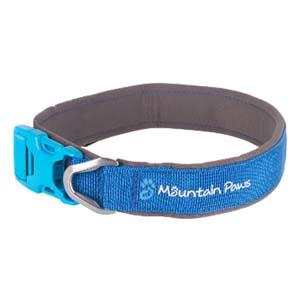 Mountain Paws Blue Dog Collar